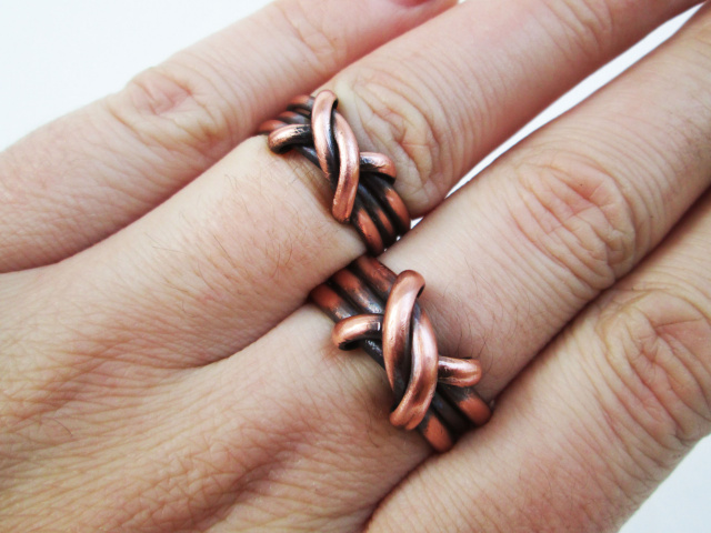 Copper ring Celtic style